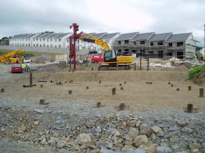 Piling at housing development