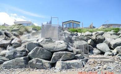 New stairs at beach