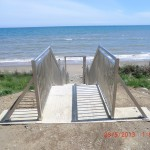 New stairs at beach