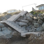 Installation of new stairs at beach