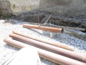Figure 2 - 3m long Steel Casings.